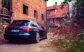 Обои Audi, ауди, rear, RS4, vossen wheels
