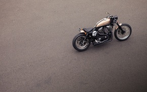 Картинка асфальт, модель, мотоцикл, класс, кастом, custom, кастомайзинг, Cafe Racer, Deus Ex Machina, харлей девидсон, harley …