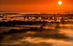 Картинка Sunrise, Wiltshire, Vale of Pewsey