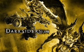 Картинка война, монстр, битва, darksiders