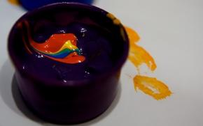 Картинка макро, краски, macro, paints, гуашь, gouache