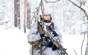 Картинка снег, солдат, Norwegian Army