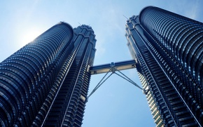 Картинка light, sky, design, blue, architecture, engineers, building, standing, malaysia, kuala, lumpur, klcc, tallest