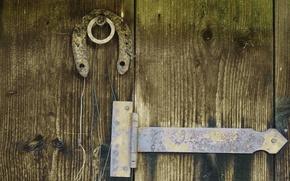 Картинка Дерево, Дверь, подкова