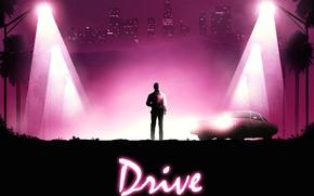 Обои Ryan Gosling, фильм, drive, Nicolas Winding Refn, art