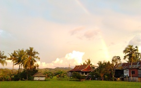 Картинка Rainbow, Landscapes, Indonesia, South Sulawesi, Afternoon