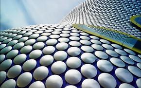 Обои объем, крыша, линии, круг, поверхность
