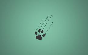Картинка minimalistic, animal, paw