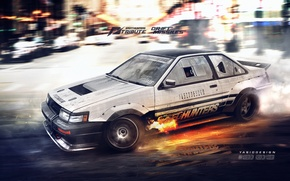 Картинка nfs, toyota, ae86, coupe, Speedhunters, tribute, yasiddesign