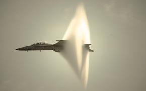 Картинка самолет, звуковой барьер, FA/18 Super Hornet