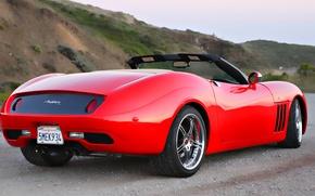 Обои красный, кабриолет, мечта, спорткар
