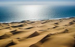 Обои море, берег, песок