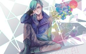 Картинка взгляд, парень, art, сидя, cla, mikaze ai, uta no prince-sama