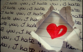 Обои i hate you, heart, любовь, love, сердце