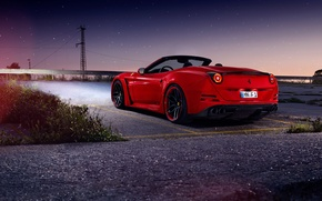 Обои ferrari, california t, n-largo, novitec rosso, red, car