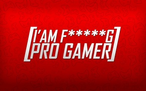 Обои game, red, pro, mini, fucking, white, a'im, gemer, black