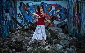 Картинка девушка, скрипка, violin, Линдси Стирлинг, Lindsey Stirling, скрипачка