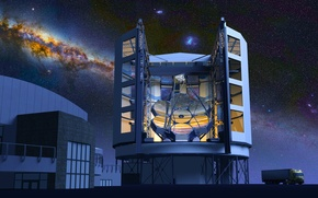Картинка обсерватория, Chile, Atacama Desert, GMT, Giant Magellan Telescope, Las Campanas Peak