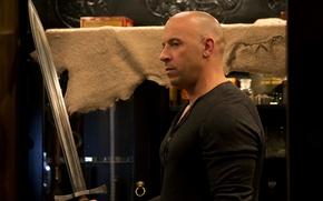 Картинка меч, Вин Дизель, Vin Diesel, The Last Witch Hunter, Последний охотник на ведьм