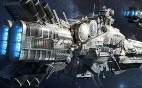 Обои stars, space, корабль, sci-fi, звёзды, Ender's Game, космос, крейсер, Enders Game, Игра Эндера, Orson Scott ...