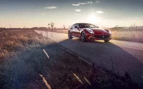 Картинка Ferrari, Red, Road, FF