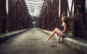 Картинка девушка, мост, поза