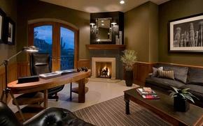 Картинка дизайн, стиль, комната, интерьер, кабинет