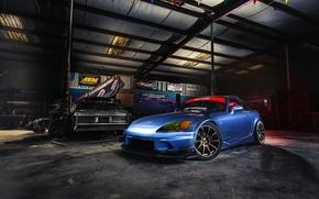 Картинка car, tuning, garage, honda s2000