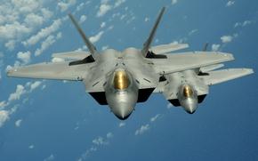 Картинка Полет, Истребители, F-22 raptor