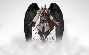 Картинка ангельские крылья, убийца, assasins creed 2