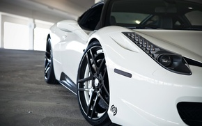 Картинка Авто, Тюнинг, Машины, Фары, Парковка, Ferrari 458 Italia