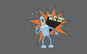 Обои футурама, Futurama, промышленный робот, мультсериал, Бендер
