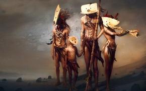 Картинка рисунок, племя, этнос, аборигены