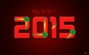 Картинка ленты, праздник, новый год, бант, красный фон, 2015