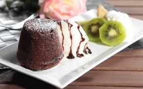 Картинка киви, мороженое, пирожное, десерт