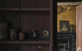 Картинка комната, портрет, картина, vintage, боке, urbanи exploration