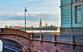 Картинка Санкт-Петербург, Эрмитаж, Петропавловская крепость, Зимняя канавка, Петропавловка