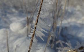 Картинка зима, кристалл, снег, природа