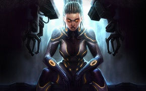 Картинка starcraft 2, Sarah Kerrigan, hots, heart of the swarm, сара керриган
