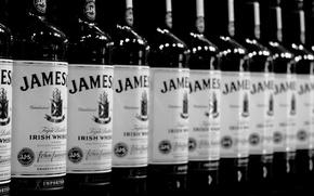 Картинка черно-белое, виски, jameson