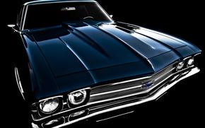 Картинка ретро, 1969, Chevelle, передок, Chevrolet, классика