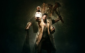 Картинка мужчина, детектив, revolver, lantern, Detective, Tango Gameworks, Shinji Mikami, The Evil Within, Зло Внутри, Sebastian ...