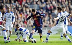 Картинка Football, Barcelona, ball, Messi