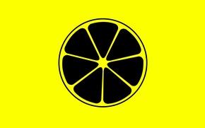Картинка лимон, долька, цитрус, фрукты