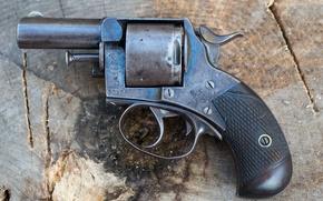 Обои Bulldog, пистолет, фон, 450CF, Webley