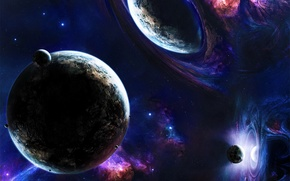 Обои Planets, Звезды, Space, Stars, Blue, Earth, Планеты, Иные Миры, Зеркала, Зеркальные Миры, Другие Миры, Mirrirs