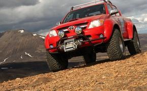 Обои горы, Toyota, 2010, Hilux