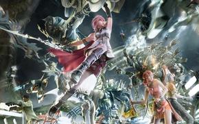 Картинка битва, final fantasy, переполох