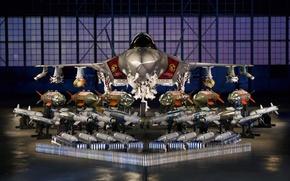 Картинка истребитель, бомбардировщик, Lightning II, Lockheed Martin, F-35A