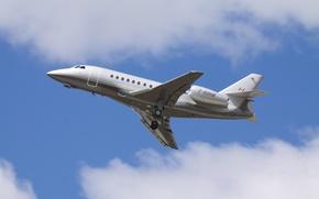 Картинка небо, полет, самолёт, 2000, реактивный, административный, Dassault Falcon